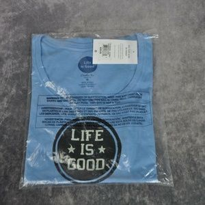 Life Is Good Tops - Life is Good Womens T-Shirt Life is Good Stamp 2XL